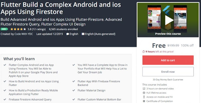 [100% Off] Flutter Build a Complex Android and ios Apps Using Firestore| Worth 199,99$