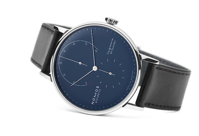 Nomos Glashütte Lambda 175 Years Watchmaking Glashütte blue enamel