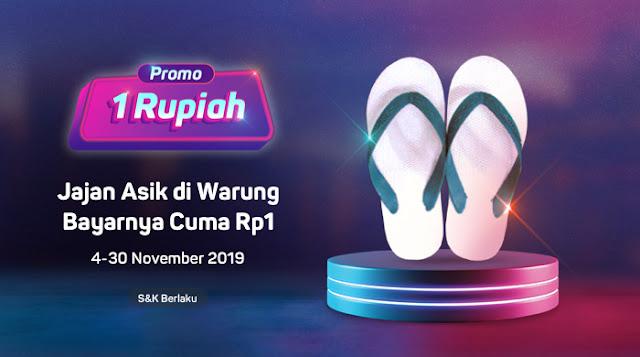 #Bukalapak - #Promo Jajan Asik di Warung Bayar Cuma 1 Rupiah (s.d 30 Nov 2019)