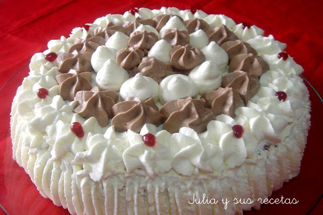 Tarta de nata y trufa. Julia y sus recetas