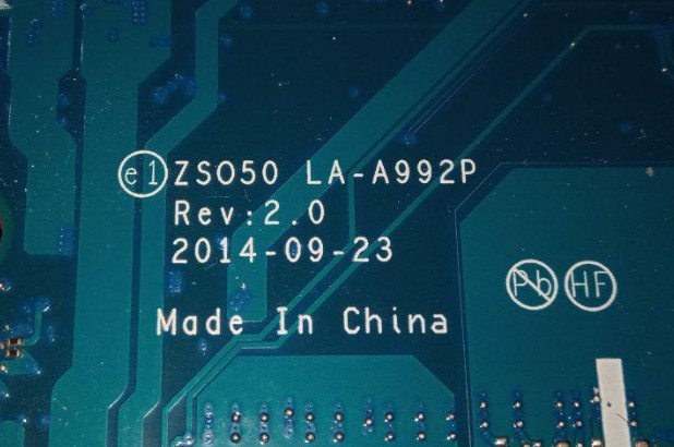 LA-A992P REV1.0 ZSO50 HP 15-r123nx Bios
