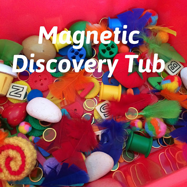 Magnetic discovery tub