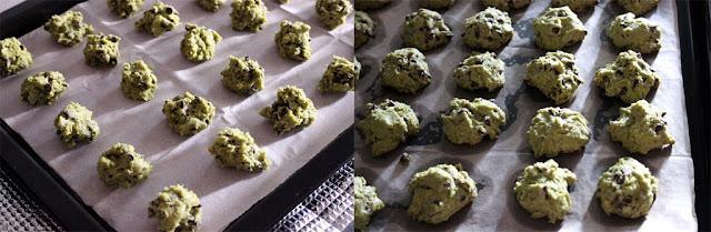 绿茶巧克力豆饼干