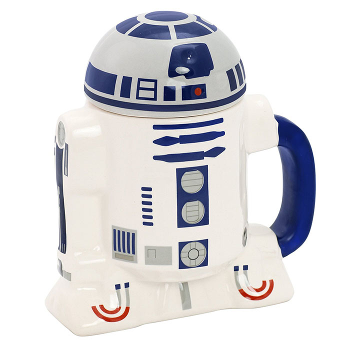 Star Wars R2-D2 Ceramic 8 oz. Coffee Mug with Removable Lid