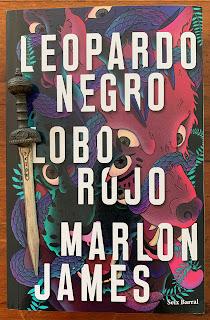 Portada del libro Leopardo Negro, Lobo Rojo, de Marlon James