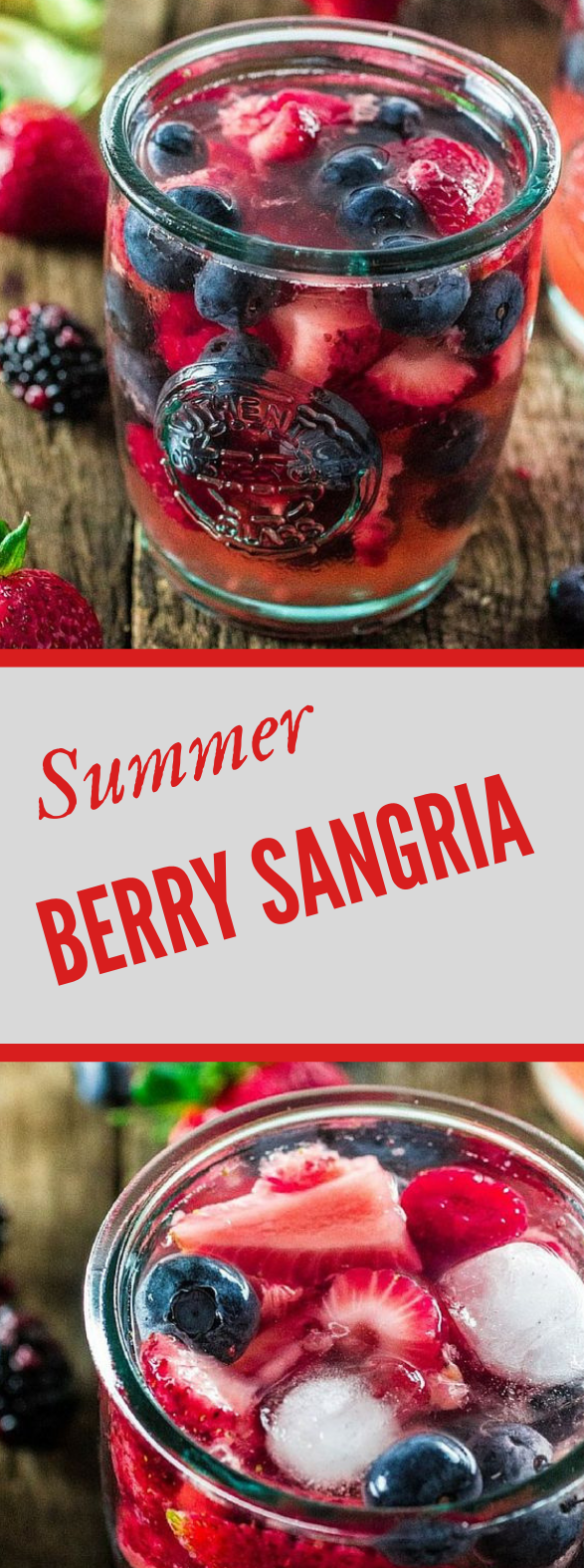 SUMMER BERRY SANGRIA #drink #healthydrink