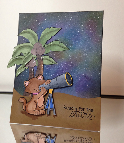 Reach for the stars by Janet features Cosmic Newton by Newton's Nook Designs; #newtonsnoook