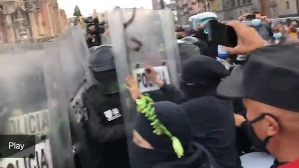 Policias amedrentan y golpean con palos a feministas «Piden ayuda en redes»