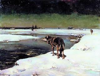 Wilk w nocy - Alfred Wierusz-Kowalski