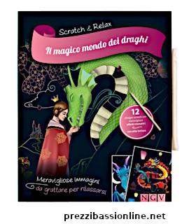 scratch & relax libro da colorare