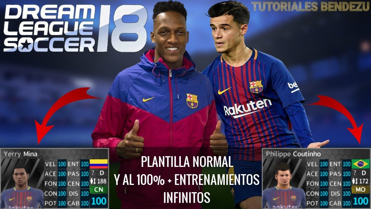Plantilla del Barcelona 2017-18 para Dream League Soccer