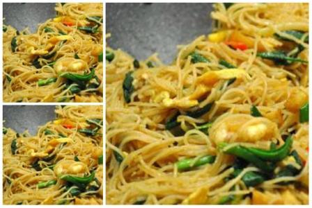 resep bihun goreng spesial udang cincang   oke meals
