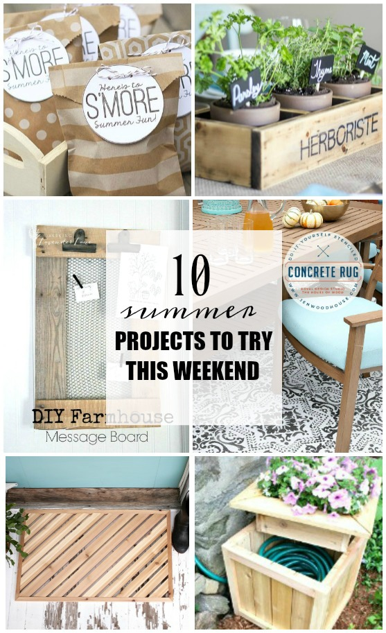 10 summer projects to try this weekend