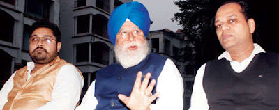 SS Ahluwalia speaks to journalists in Siliguri