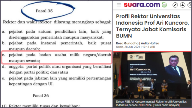 Rangkap Jabatan Komisaris BUMN, Rektor Jelas Melanggar Statuta UI, Said Didu: Harusnya Dipecat!