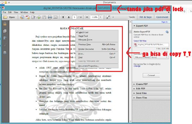 Cara membuka file pdf yang terkunci tanpa menggunakan software