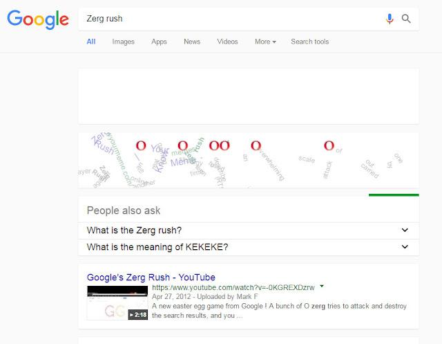 fakta google kata kunci zerg rush untuk game