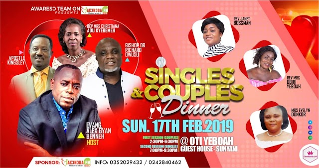Akonoba FM organizes Free Singles and Couples dinner on Valentine's Day