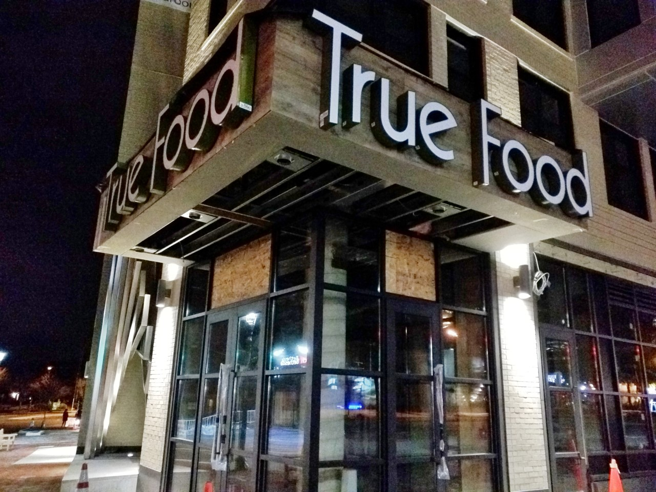 The Sign Is Up At The Future True Food Kitchen Restaurant, In The Solaire Bethesda  Luxury Apartments At 7077 Woodmont Avenue In Bethesda.