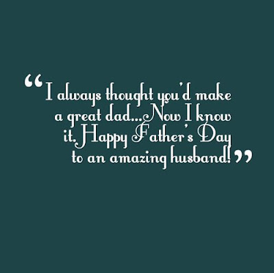 thank you for being a great husband and father