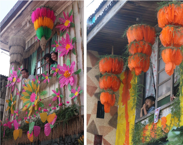Kiping decorations at the facade of the houses in Lucban, Quezon during the Pahiyas Festival