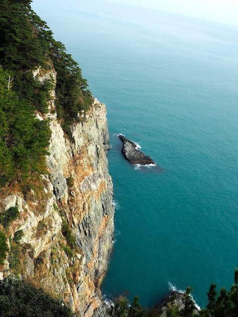 Yeongdo Island cliff side in Taejongdae Park, Busan, South Korea