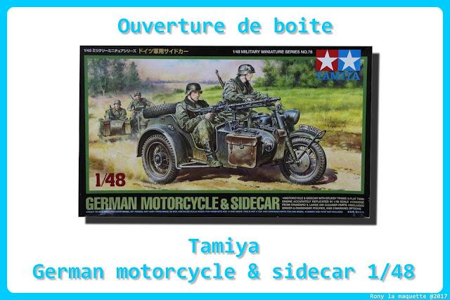 Review du German motorcycle & side-car de Tamiya au 1/48.