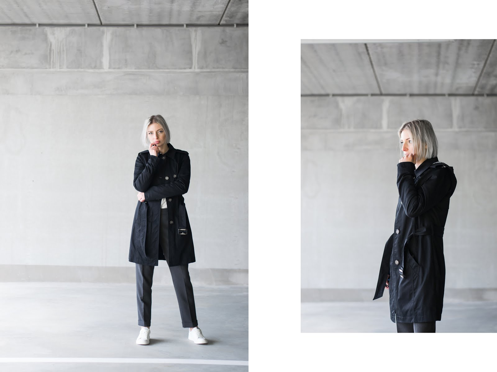 s.Oliver, trenchcoat, black, casual, outfit, street style, minimal, how to wear, ss18, trends