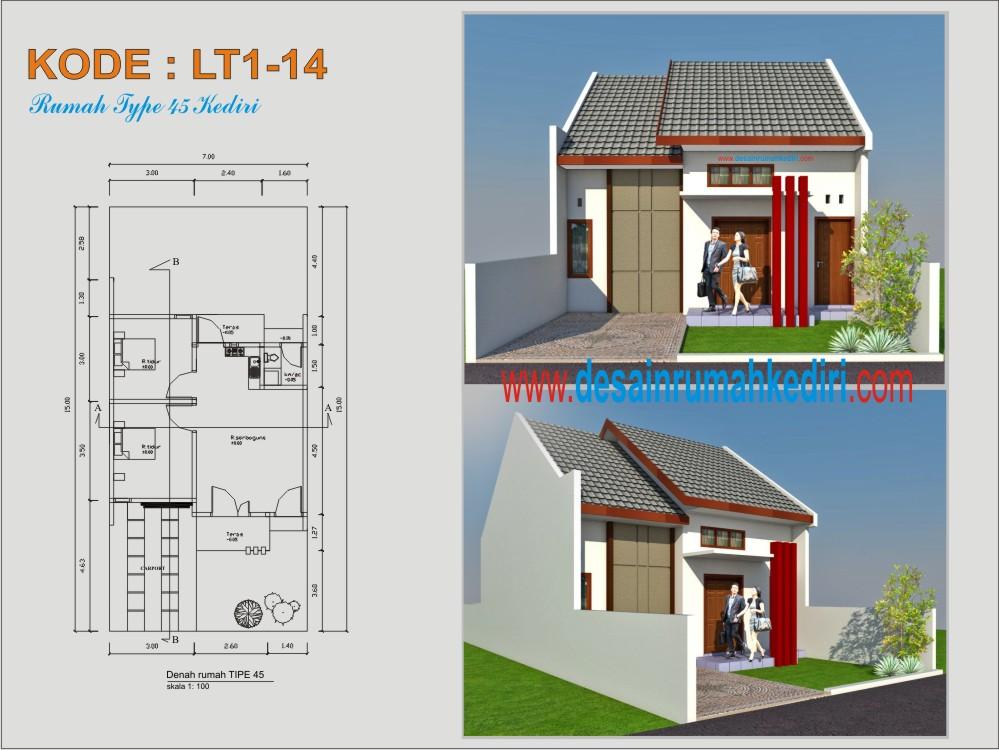 LT1-14 : Rumah Type 45 Bpk Wahab - Kota Kediri  Jasa