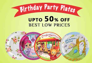 Birthday party plates