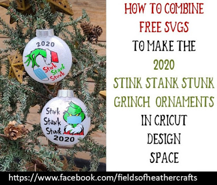 How To Make A Grinch Stink Stank Stunk Ornament With Cricut