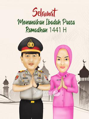 Karikatur Polisi Ucapan Selamat Ramadhan
