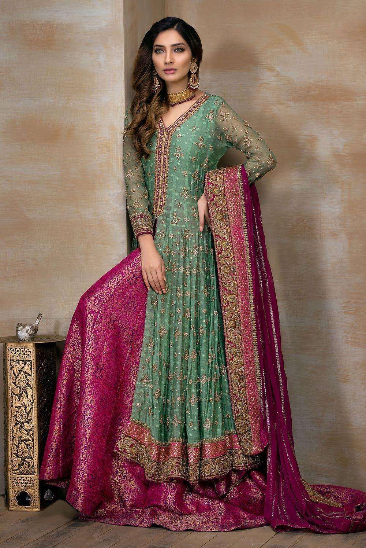 Color Combination Pakistani Bridal Dress