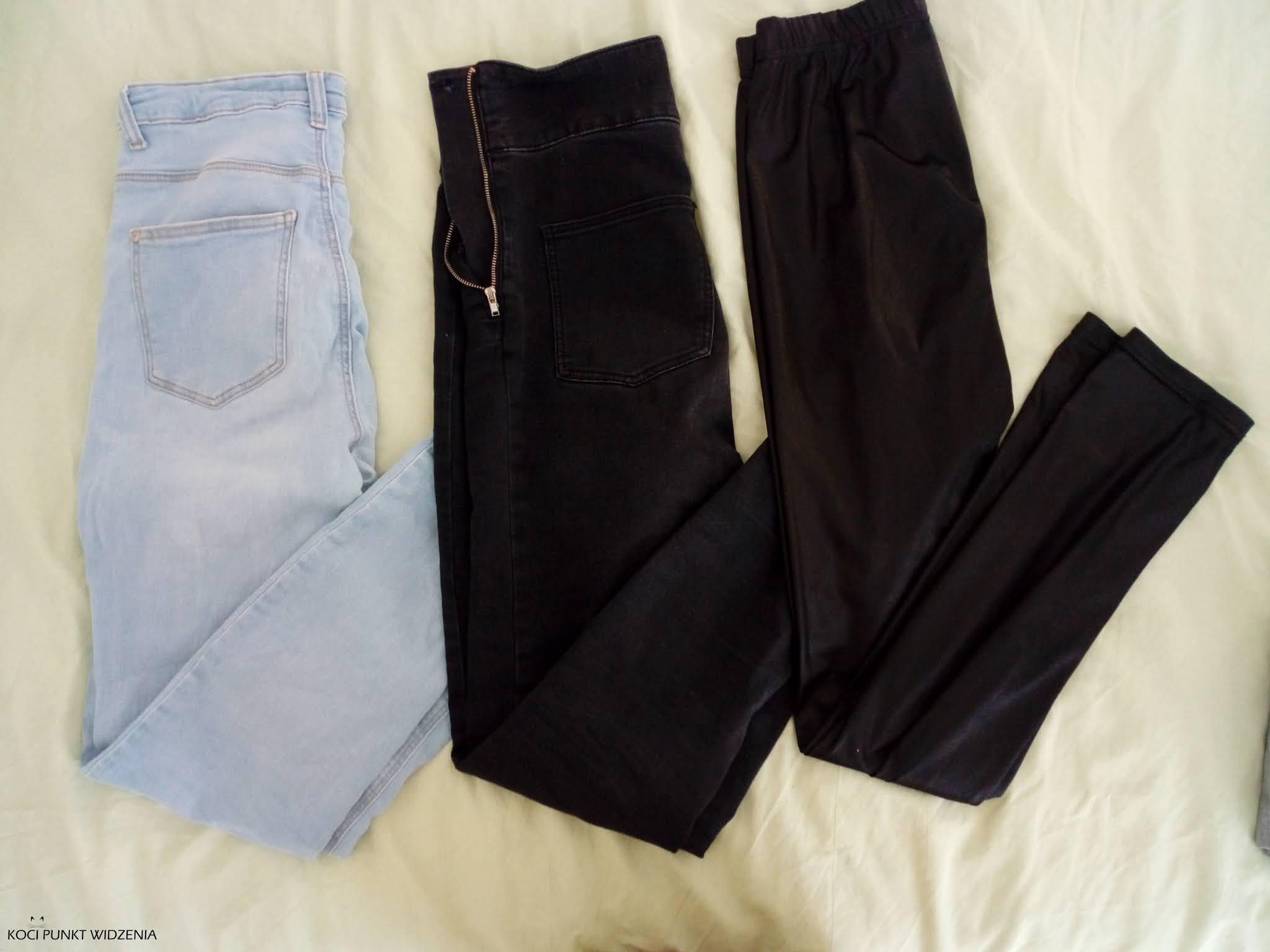 Minimalistyczna garderoba - spodnie