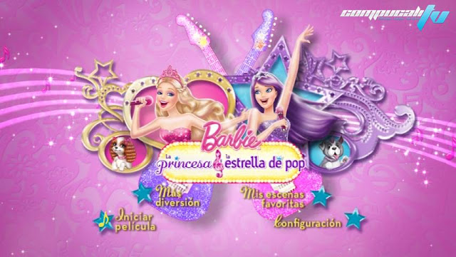 Barbie The Princess y The Popstar DVDR NTSC Full Español Latino 2012