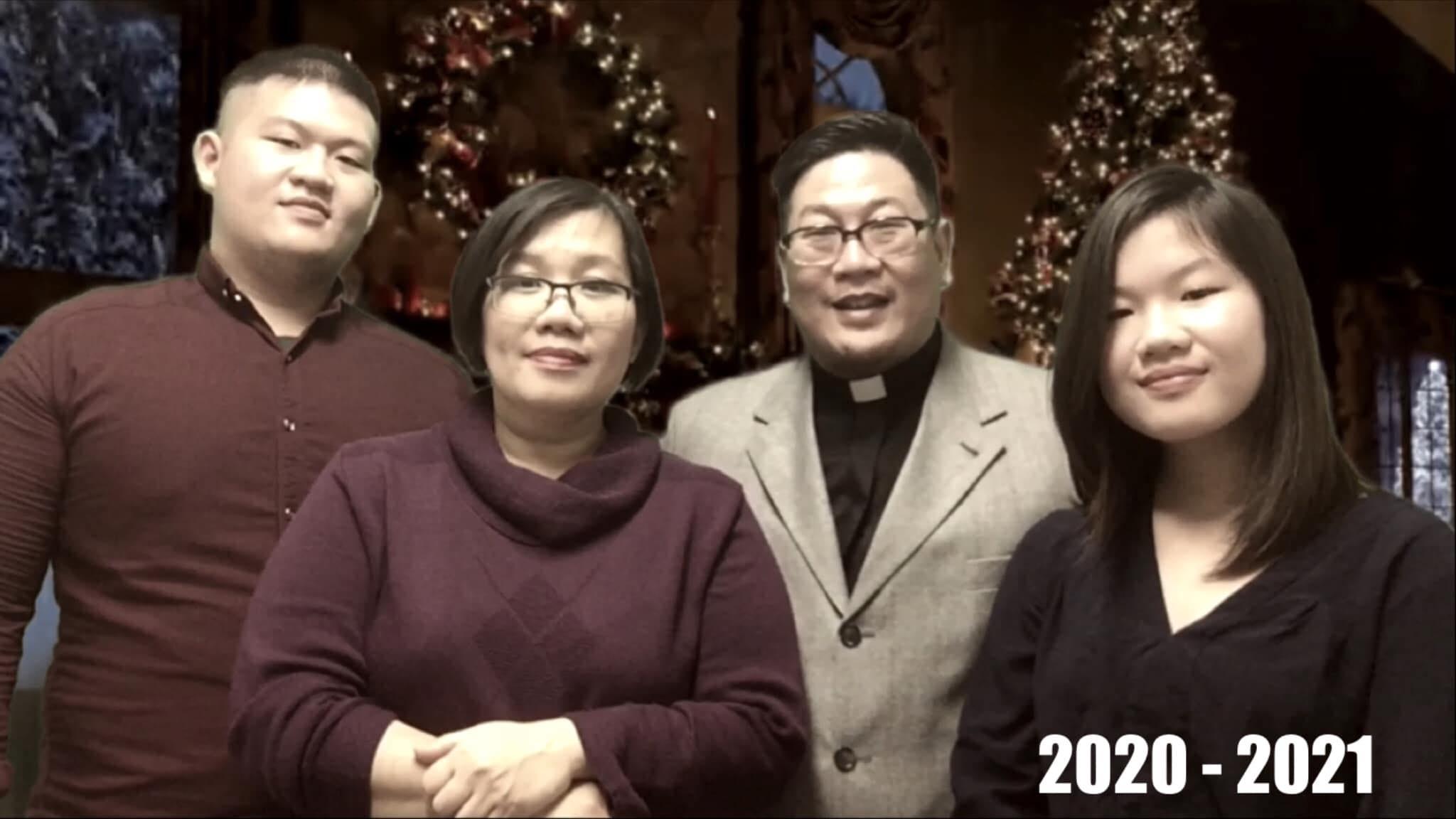 Foto keluarga Joseph Paul Zhang