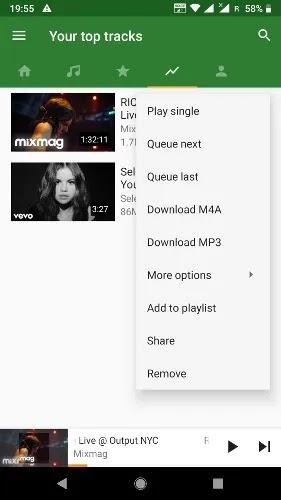 تطبيقات تنزيل الموسيقى المجانية Android Ymusic