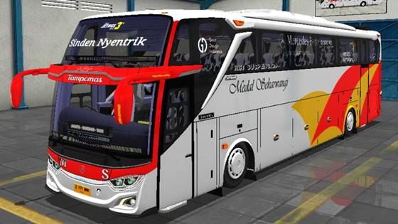 Livery JB3+ Mercedes Benz O500R Medal Sekarwangi