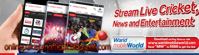 Warid Mobile World App for Daily,Weekly,Monthly