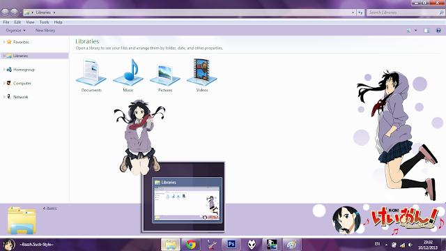 Windows 7 Theme Mio Akiyama by Bashkara