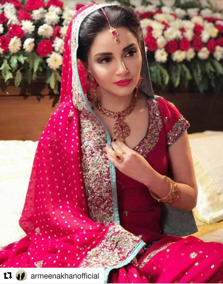 Hamna Amir beautiful Pakistani bridal designer jewelry collection online