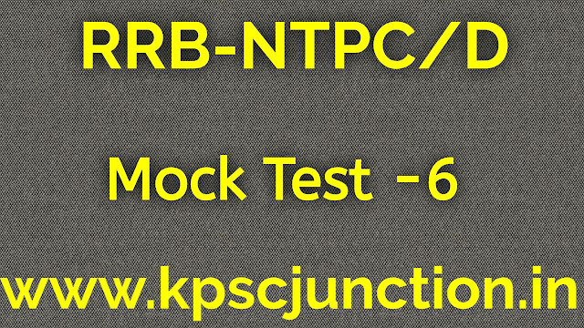 RRB RAILWAY RELATED 40 iMPORTANT  QUESTION AND ANSWERS  2019  MOCK TEST -6