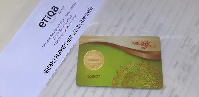 dinar jenama public gold dihadap borang permohonan temuduga pekerjaan