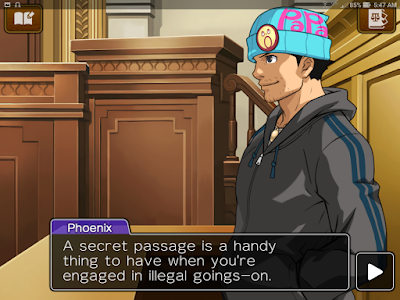 Apollo Justice Ace Attorney HD hobo Phoenix Wright secret passage handy