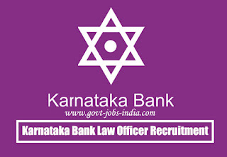 Karnataka Bank Law Officer Recruitment 2020