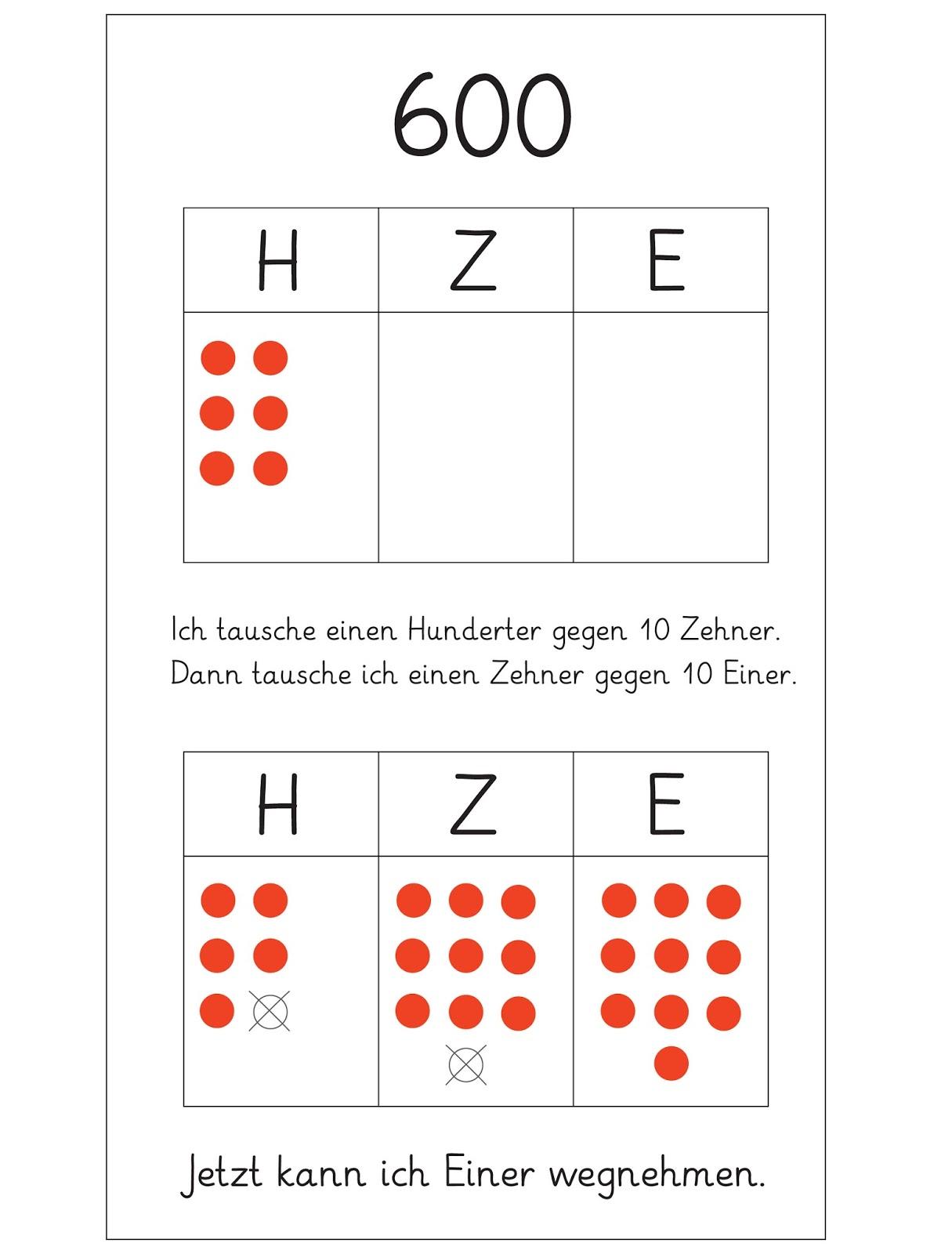 Colorful Hunderter Zehner Einer Tabelle 2Klasse Pictures ...