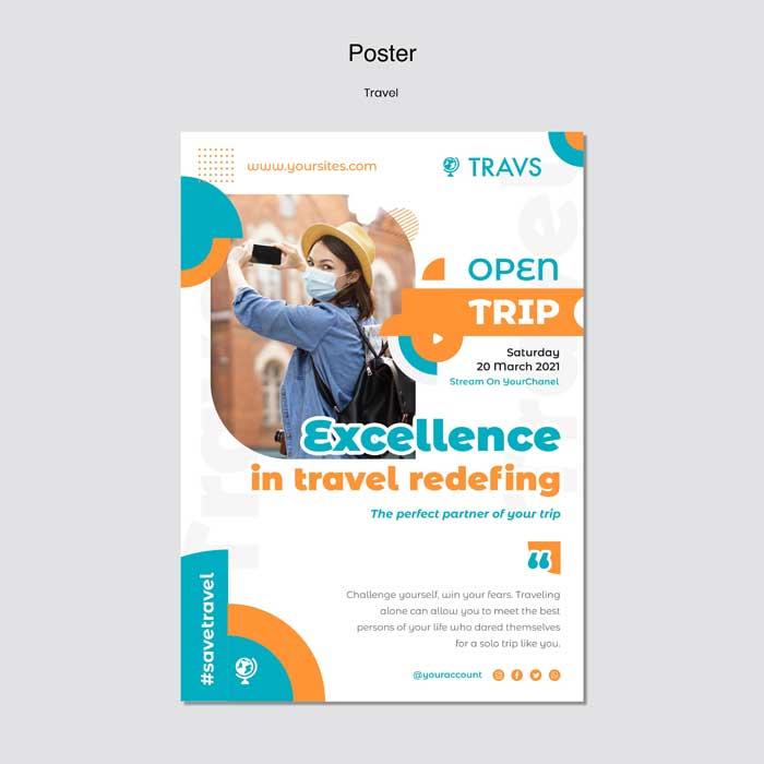 Travel Poter PSD Template