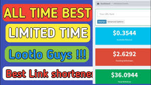 New link shortener free website to make money online without investment