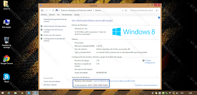 ✅ Windows 8.1 Blue 2【 32 y 64 Bits 】(Pre-Activado) Español  [ UL - FF ] MB8xXYd