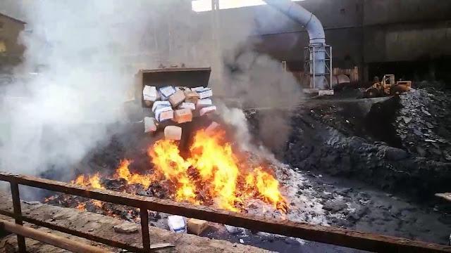 Καταστροφή κατασχεμένων ναρκωτικών από την Ελληνική Αστυνομία (βίντεο)
